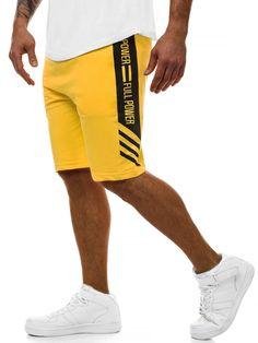 SPODENKI MĘSKIE ŻÓŁTE OZONEE MAD/2910 | OZONEE - Odzieżowy sklep internetowy Sport Shorts, Swim Shorts, Men's Shorts, Mens Fashion Suits, Boy Fashion, Fashion Clothes, Short Niña, Yellow Shorts, Apparel Design