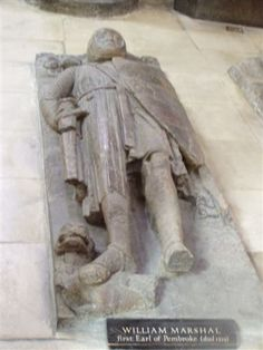 The tomb of William Marshall. Such was his prowess and loyalty to his king, William was praised by Cardinal Stephen Langton as the greatest knight that ever lived. He was still acting in front line service in his 70s, leading English forces in the decisive victory at the Battle of Lincoln in 1217.