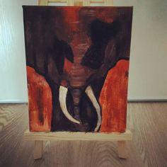 L'éléphant - peinture acrylique sur toile
