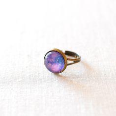 Purple Galaxy Ring from notonthehighstreet.com