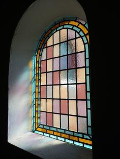 Stained glass window in the church in Sønderho, Fanoe. Photo by Tina Møller.