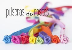 DIY: pulseras con mini rosas