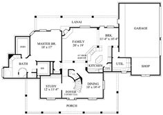 Farmhouse Style House Plan - 4 Beds 3.5 Baths 3358 Sq/Ft Plan #61-236