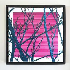 "Overflow series: ""Close Up"" 24 x 24 inch, digital art & gloss and matte gel on stretched canvas. 26.5 x 26.5 inch, float frame - black flat. ---------------------------------------- #popart #popartist #digitalart #art #artist #contemporaryart #colorfield #abstractart #gloss #matte #art #canvas #jonsavagegallery"