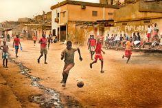 A street soccer game in Luanda, Angola.