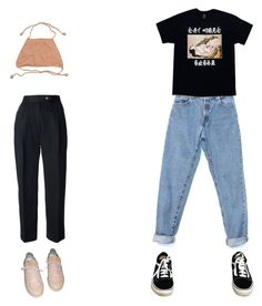 """""""Untitled #367"""" by luisaxx ❤ liked on Polyvore featuring CÉLINE, Louis Vuitton, Levi's and Vans"""