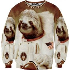 Astronaut Sloth Sweater. I secretly love this. Anybody that knows me knows I would wear this.