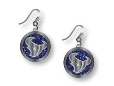 Houston Texans Glitter Dangle Earrings Aminco