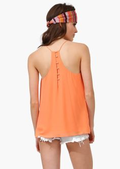 fun loose tank with button back
