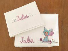 Una simpática hada  acompañará a Julia en sus sueños #regalospersonalizados #detallespersonalizados #niños #kids #nacimientos #cunas #sabanascuna