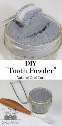 This DIY Tooth Powder is sure to impress! The whole family will love using it! Toothpaste Recipe, Homemade Toothpaste, Natural Toothpaste, Grow Back Receding Gums, Tooth Powder, Best Oral, Teeth Care, Mouthwash, Dental Health