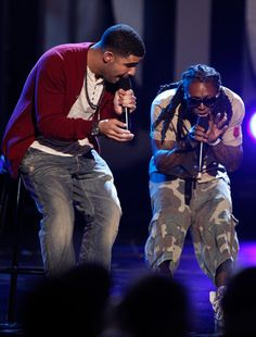 Rappers Lil Wayne (L) and Drake perform onstage during the 52nd Annual GRAMMY Awards held at Staples Center on January 31, 2010 in Los Angeles, California. - 52nd Annual GRAMMY Awards - Show