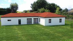 Maisons plain pied 4 chambres de 120 m² construite par Demeures Familiales Construction, Shed, Outdoor Structures, How To Plan, Architecture, House Styles, Home, Deco, Houses