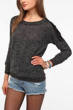 Urban Outfitters - Lucca Couture Shoulder Patch Sweater