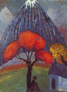 Marianne von Werefkin, The Red Tree, 1910 by kraftgenie, via Flickr