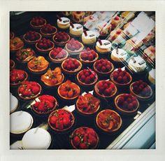 Amazing fruit tarts at Le Bon Marche, Paris