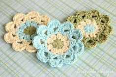 Japanese Flower Motif Crochet Pattern