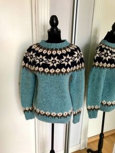 Excited to share this item from my #etsy shop #ByNordiKnit - Norwegian sweater own design - handknit