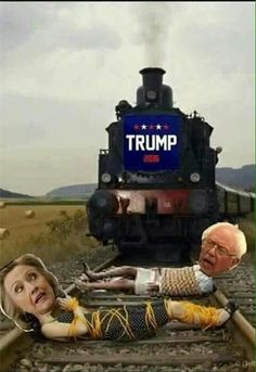 """Trump Train......DON'T STOP THAT TRAIN.......YOU GO """"TRUMP"""" I'M RIGHT BEHIND YOU…"""