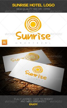 Sunrise Hotel Logo Template — Vector EPS #sun logo #logo • Available here → https://graphicriver.net/item/sunrise-hotel-logo-template/2697216?ref=pxcr