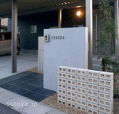 シンプルで上質 Hall Design, Facade Design, House Design, Sister Home, Gate Post, Main Entrance, Detached House, Architecture Details, Home Projects