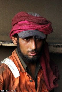 Hundreds of labourers who risk their lives at the ship-breaking yard earn just £2.25 a day