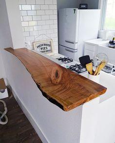 Bartheke Kochinsel aus Holz, Kücheinsel mit Tresen, Bar in der Küche