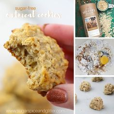 Instant Oatmeal Cookies, Sugar Free Oatmeal, Oatmeal Breakfast Cookies, Breakfast Cookie Recipe, Healthy Oatmeal Cookies, Cookie Recipes, Treats, Sweet, Desserts
