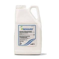 Reward Landscape and Aquatic Herbicide . $136.50. Reward herbicide is fast acting and broad spectrum on submersed weeds, especially effective on elodea, Eurasian watermilfoil, coontail and duckweed. Recommended highly for ponds and along lakeshore areas. It is absorbed by target plants in just minutes with no toxicity to fish or wildlife. No Swimming Restriction. Reward also  rapidly kills undesirable aboveground weed growth in 24 to 36 hours. Avoid applicatio...