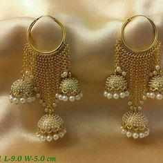 Osm my favorite one Indian Jewelry Earrings, Jewelry Design Earrings, India Jewelry, Antique Earrings, Wedding Jewelry, Gold Jewelry, Jewellery, Wedding Rings, Women Jewelry
