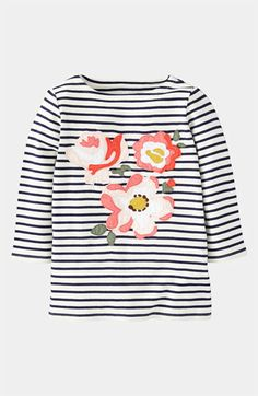 Mini Boden 'Big Bloom' Appliqué Tee