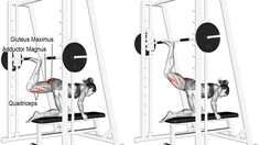 Smith machine kneeling rear kick exercise