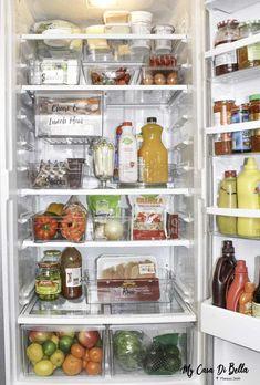 Refrigerator Organization Hacks - Organize Your Refrigerator Like A Boss Do's & Don'ts. Refrigerator Organization Hacks - Organize Your Refrigerator Like A Boss Do's & Don'ts. Best Refrigerator, Refrigerator Organization, Pantry Organization, Organized Fridge, Staying Organized, Healthy Fridge, Healthy Meals, Diy Kitchen Storage, New Kitchen
