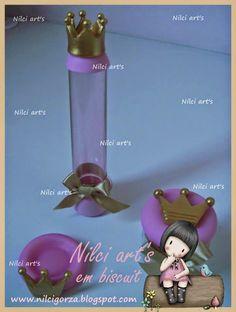 Nilci art's em biscuit: Lembranças Festa da Princesinha