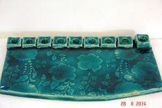 Hanukkah Diy, Hanukkah Menorah, Hannukah, Ceramic Light, Ceramic Art, Jewish Art, Religious Art, Jewish Customs, Ceramics Ideas