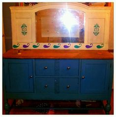 Furniture makeover i did with a.banged up.buffet