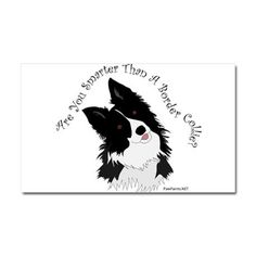Are You Smarter Than A Border Collie? Love this car magnet!
