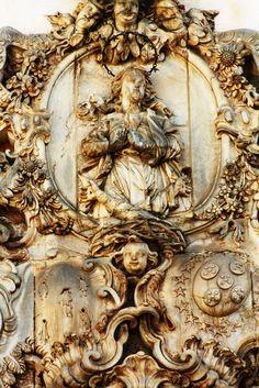 Detalhe de escultura em pedra sabão, de autoria de Antônio Francisco Lisboa, o Aleijadinho. Igreja São Francisco de Assis, Ouro Preto - Minas Gerais