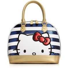 Hello Kitty Handbag, Americana Top Handle Satchel by None, via Polyvore