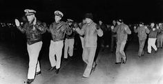 1968: USS Pueblo captured by North Korea  Crew members of the U.S. Navy intelligence ship USS Pueblo are led into captivity on Jan. 23, 1968 after the vessel was seized by North Korean patrol boats in the Sea of Japan. The crew was charged with spying, but the U.S. maintained the UUS Pueblo was in international waters, 16 miles from North Korean shores. The crew was finally released 11 months later after a settlement was reached between U.S. and North Korean negotiators.  #Historicphotos