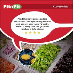 Dear Strawberry Shortcake, thanks for your kind words. We'd love to serve you again, soon! #LoveForPita