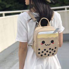 Rainbow Waffles, Cute Mini Backpacks, Purse Essentials, Backpack Reviews, Kawaii Plush, Tea Gifts, Bubble Tea, Kids Bags, New Bag