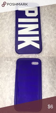 PINK Victoria's Secret IPhone 5/5s Case VS PINK. Rubber case. Fits IPhone 5/5s. Great condition PINK Victoria's Secret Accessories Phone Cases