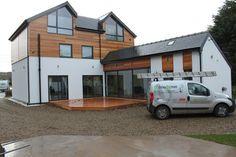 Self Build Property Western Red Cedar Decking Northumberland