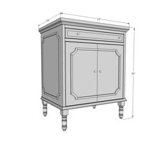 Ana White   Build a Emily Nightstand   Free and Easy DIY Project and Furniture Plans