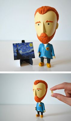 This van Gogh action figure includes a detachable ear.