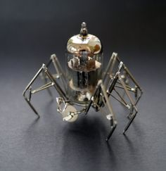 Vacuum Tube Spider Sculpture No 4 Mechanical by amechanicalmind, $260.00