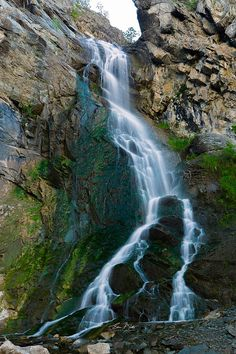 Bridal Veil Falls, Spearfish Canyon. A beautiful Fall in one of the prettiest scenic highways of the country, Spearfish Canyon Scenic Byway, South Dakota.