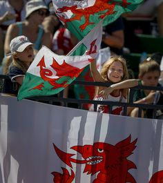 Lots of Welsh support at the Emirates Airline Dubai Rugby Sevens. #Everybodyplay #Dubai7s