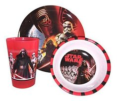 "Set contains plate (8""), bowl (5.5""), and tumbler (9oz) – All materials are durable and long-lasting. Plastic material that will not break.  - http://kitchen-dining.bestselleroutlet.net/product-review-for-star-wars-3-piece-mealtime-set-includes-plastic-plate-bowl-and-cup-featuring-sw7-kylo-ren-stormtroopers/"